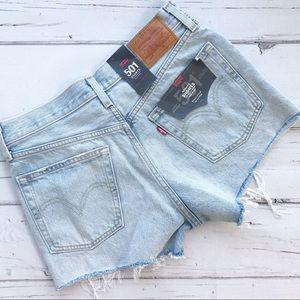 Levis 501 premium cutoffs jean denim shorts